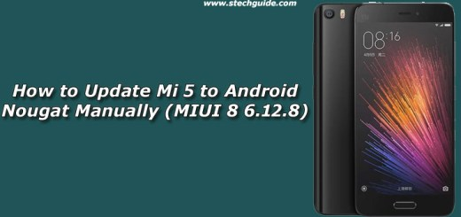 How to Update Mi 5 to Android Nougat Manually (MIUI 8 6.12.8)