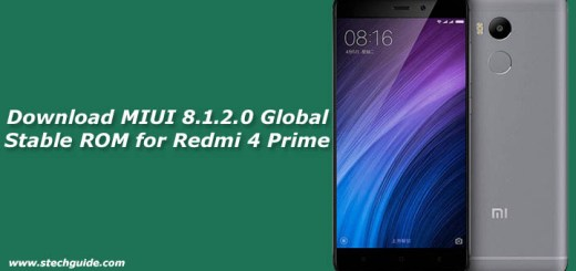 Download MIUI 8.1.2.0 Global Stable ROM for Redmi 4 Prime
