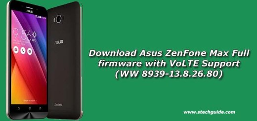 Download Asus ZenFone Max Full firmware with VoLTE Support (WW 8939-13.8.26.80)