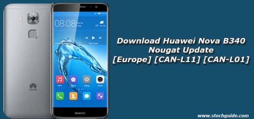 Download Huawei Nova B340 Nougat Update [Europe] [CAN-L11] [CAN-L01]