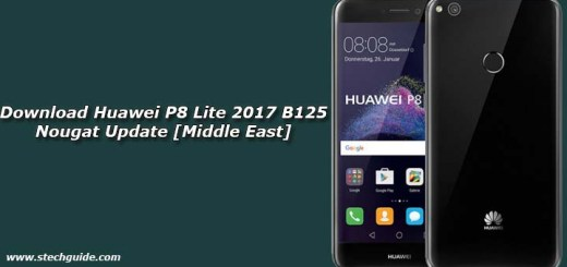 Download Huawei P8 Lite 2017 B125 Nougat Update [Middle East]