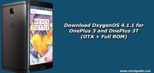 Download OxygenOS 4.1.1 for OnePlus 3 and OnePlus 3T (OTA + Full ROM)