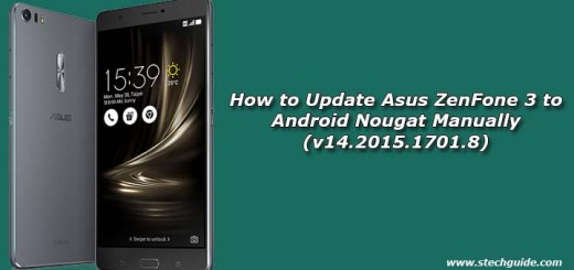 How to Update Asus ZenFone 3 to Android Nougat Manually (v14.2015.1701.8)