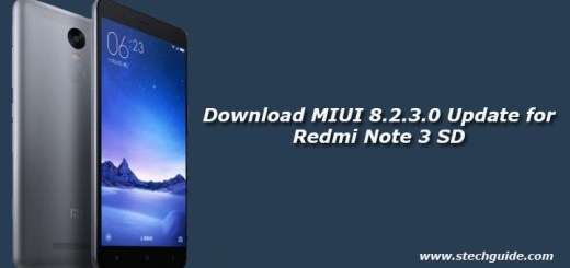 Download MIUI 8.2.3.0 Update for Redmi Note 3 SD