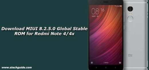Download MIUI 8.2.5.0 Global Stable ROM for Redmi Note 4/4x