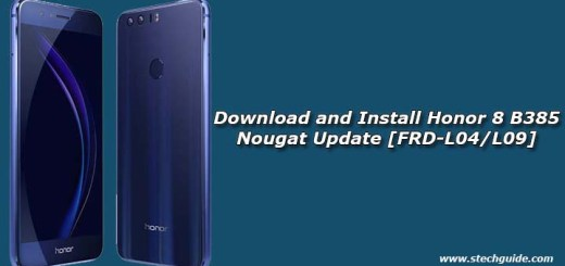 Honor 8 B385 Nougat Update