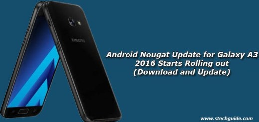 Android Nougat Update for Galaxy A3 2016