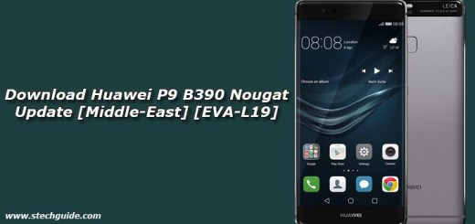 Download Huawei P9 B390 Nougat Update [Middle-East] [EVA-L19]