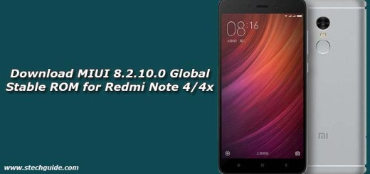 Download MIUI 8.2.10.0 Global Stable ROM for Redmi Note 4/4x