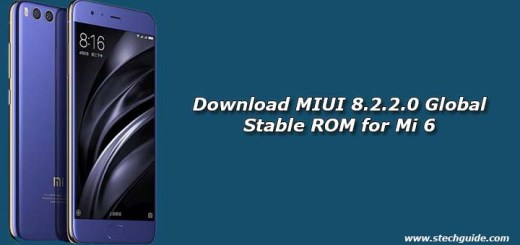 Download MIUI 8.2.2.0 Global Stable ROM for Mi 6