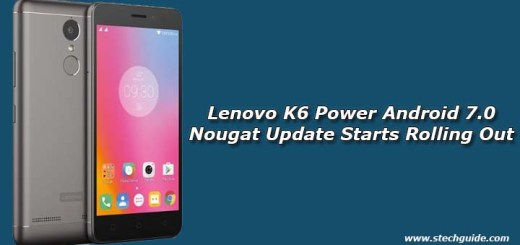 Lenovo K6 Power Android 7.0 Nougat Update Starts Rolling Out