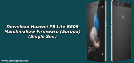 Download Huawei P8 Lite B605 Marshmallow Firmware (Europe) (Single Sim)