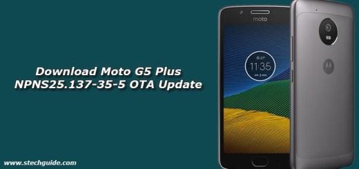 Download Moto G5 Plus NPNS25.137-35-5 OTA Update