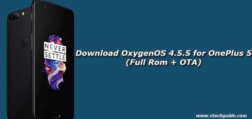 Download OxygenOS 4.5.5 for OnePlus 5 (Full Rom + OTA)