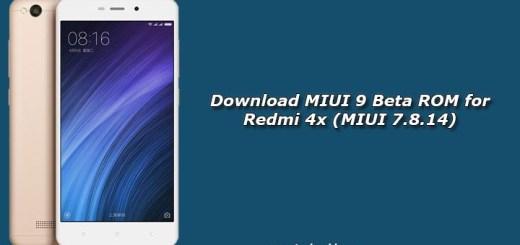 Download MIUI 9 Beta ROM for Redmi 4x (MIUI 7.8.14)