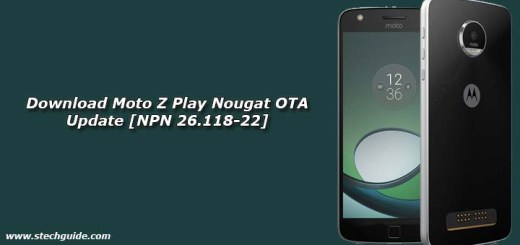 Download Moto Z Play Nougat OTA Update [NPN 26.118-22]