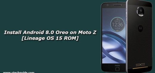 Install Android 8.0 Oreo on Moto Z [Lineage OS 15 ROM]