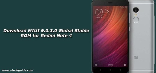 Download MIUI 9.0.3.0 Global Stable ROM for Redmi Note 4