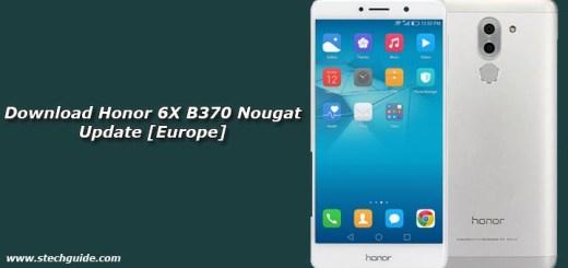 Download Honor 6X B370 Nougat Update [Europe]
