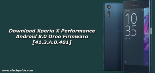 Download Xperia X Performance Android 8.0 Oreo Firmware [41.3.A.0.401]