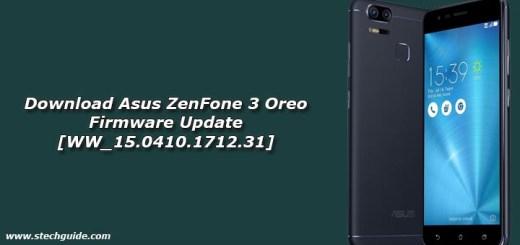 Download Asus ZenFone 3 Oreo Firmware Update [WW_15.0410.1712.31]
