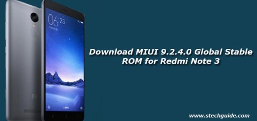 Download MIUI 9.2.4.0 Global Stable ROM for Redmi Note 3