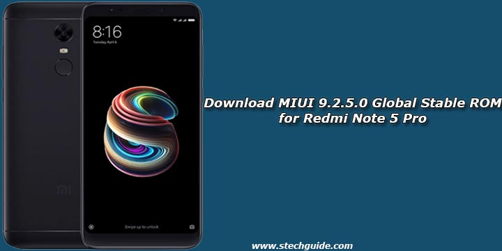 Download MIUI 9.2.5.0 Global Stable ROM for Redmi Note 5 Pro
