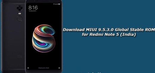 Download MIUI 9.5.3.0 Global Stable ROM for Redmi Note 5 (India)