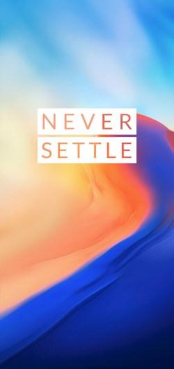 OnePlus 6 never Settle Wallpaper