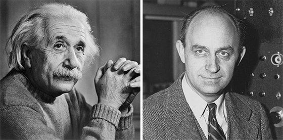 난민 신분으로 이주해 미국 과학기술 발전에 기여한 물리학자 알베르트 아인슈타인(왼쪽 사진)과 엔리코 페르미. [중앙포토]