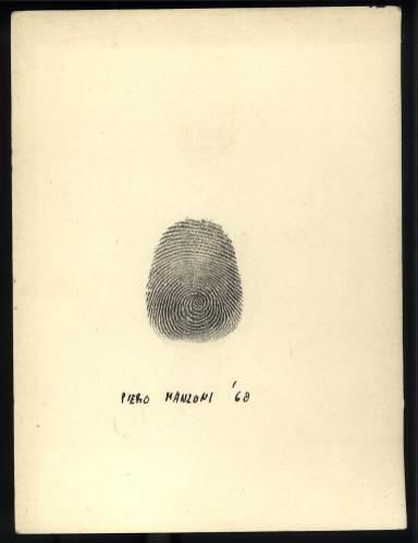 Piero Manzoni, Impronta, 1960. Collection Fondazione Piero Manzoni - ©Pictoright Amsterdam 2019