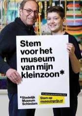Ronald de Jong en Freek, bezoekers, opa en kleinzoon