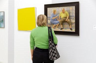 Daan van Golden, Zonder titel, 1966, Collectie Rijksdienst voor het Cultureel Erfgoed, Stedelijk Museum Schiedam (l) en Nico Heilijgers, Que Calor!, 2012. Fotografie: Aad Hoogendoorn