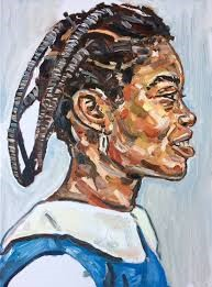 Esiri Erherienne-Essi, Efeturi (hair knotting with thread), 2015