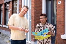 Maarten Bel & 'plaatje' Johan Dompig. Fotografie: Aad Hoogendoorn