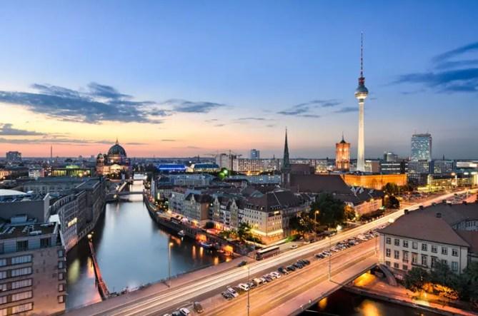 Berlijn Panorama avond