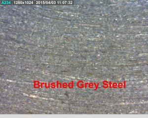 Surface polished grey steel