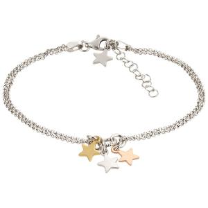 Silberarmband mit Sterne