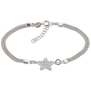 Silberarmband mit Stern und Steinen- 925 Silber