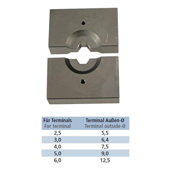 Presseinsätze für terminals hydraulische Presszange
