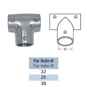 T-Stück 90° Relingbeschlag