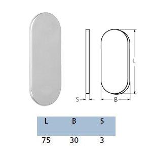 Gegenplatte oval