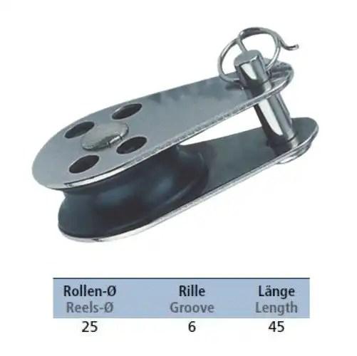 Mini Block mit Gleitlager und austauschbaren Bolzen