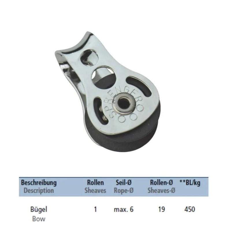 Micro Xs Block mit Kugellager und Bügel