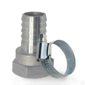 Schglauchanschluss mit innengewinde und Schlauchschelle