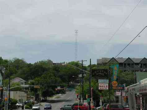 Moonlight Tower from a distance