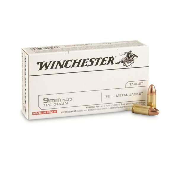 9mm Luger | Winchester - FMJ - 124 Grains - 50 Rounds