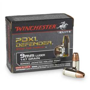9mm Luger | Winchester PDX1 Defender - JHP - 147 Grains - 20 Rounds