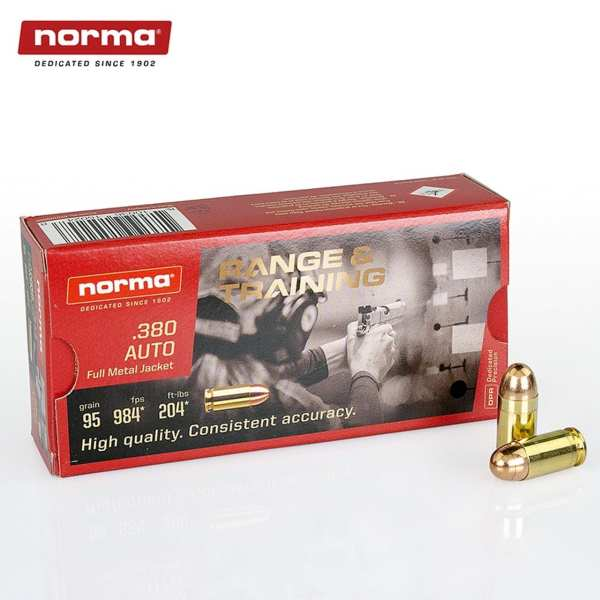 .380 ACP   Norma - FMJ - 95 Grains - 50 Rounds