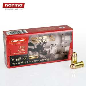 .380 ACP | Norma - FMJ - 95 Grains - 50 Rounds